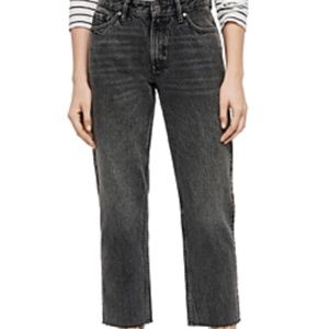 All saints Ava straight leg jeans high waisted